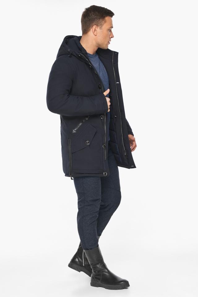 """Куртка – воздуховик комфортный на зиму мужской цвет синий модель 20140 Braggart """"Angel's Fluff Man"""" фото 3"""