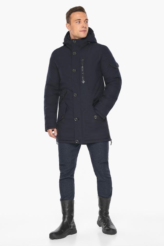 """Куртка – воздуховик комфортный на зиму мужской цвет синий модель 20140 Braggart """"Angel's Fluff Man"""" фото 2"""