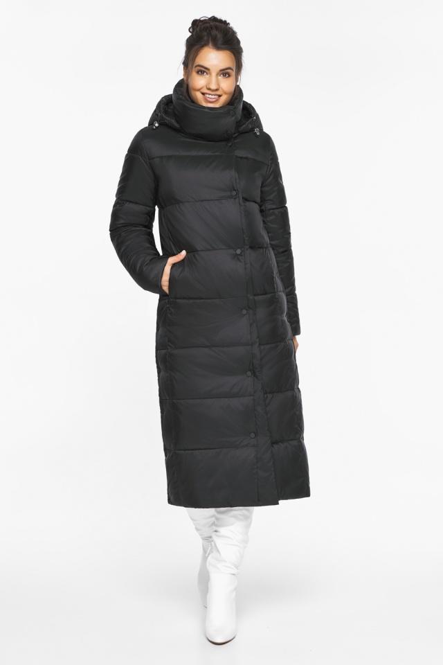 """Длинная куртка черная женская модель 41830 Braggart """"Angel's Fluff"""" фото 3"""