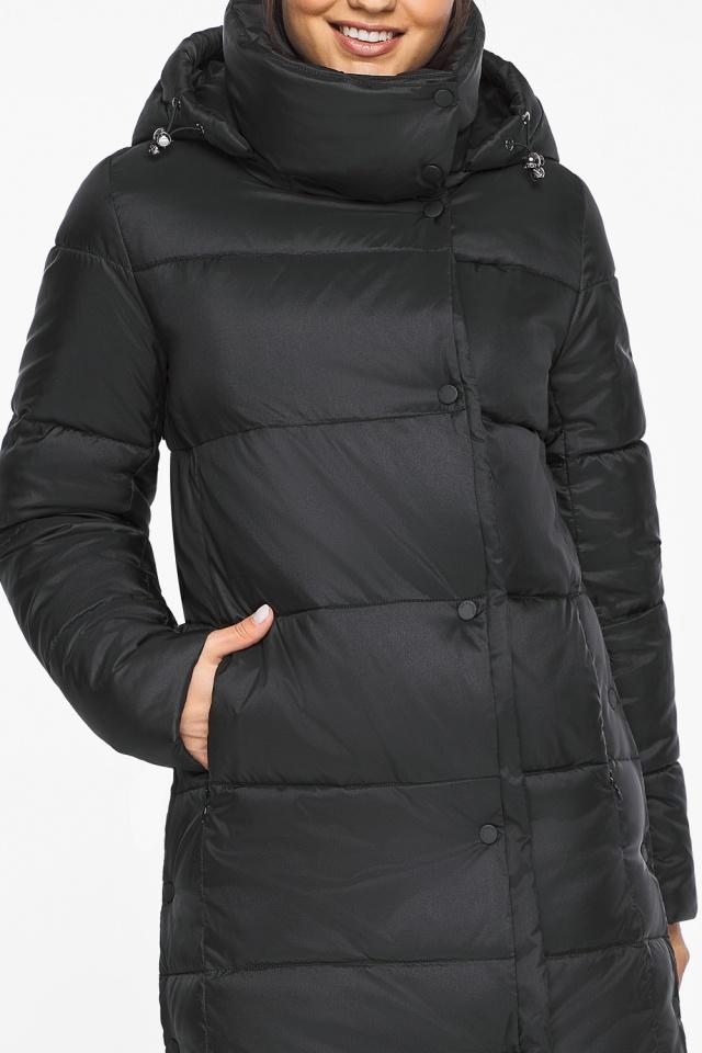 """Длинная куртка черная женская модель 41830 Braggart """"Angel's Fluff"""" фото 8"""