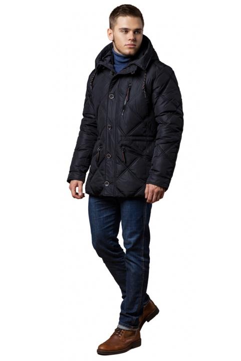 """Черная куртка с пуговицами мужская зимняя модель 12481 Braggart """"Dress Code"""" фото 1"""