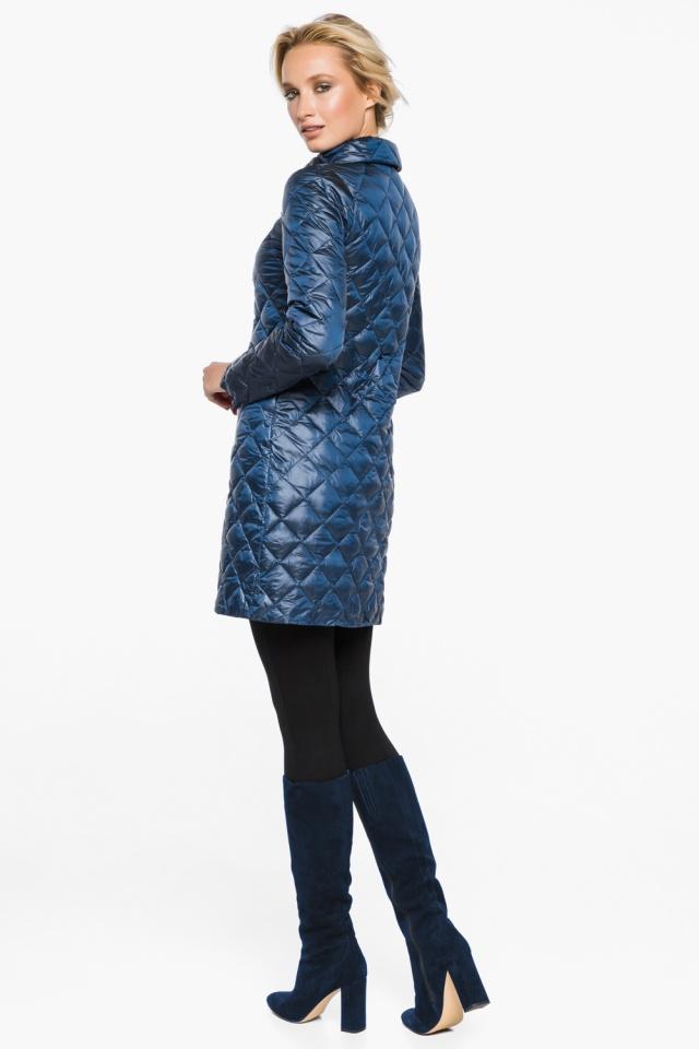 """Стеганая куртка женская осенне-весенняя цвет темная лазурь модель 20856 Braggart """"Angel's Fluff"""" фото 5"""