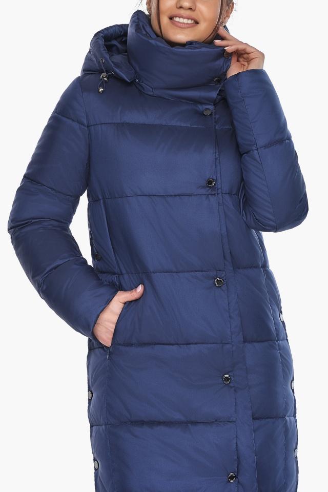 """Куртка с высоким воротником женская цвет синий бархат модель 41830 Braggart """"Angel's Fluff"""" фото 7"""