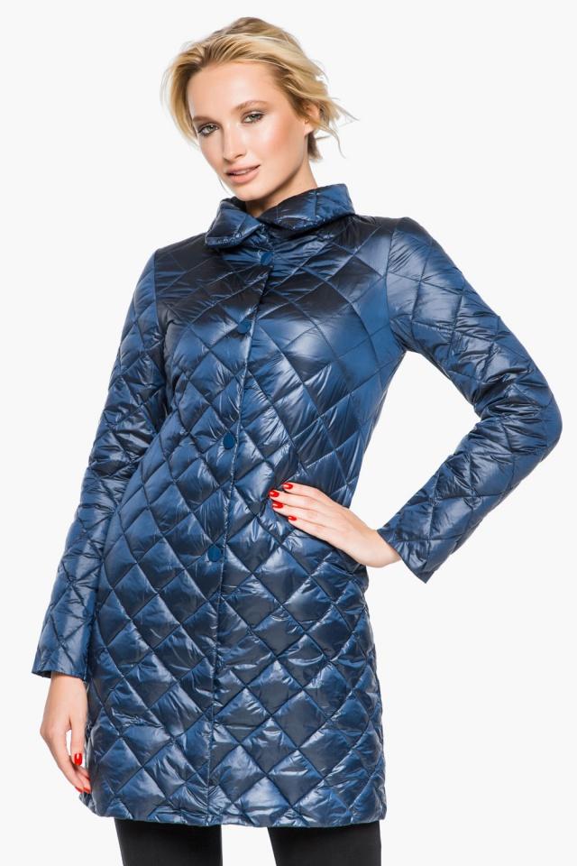 """Стеганая куртка женская осенне-весенняя цвет темная лазурь модель 20856 Braggart """"Angel's Fluff"""" фото 3"""