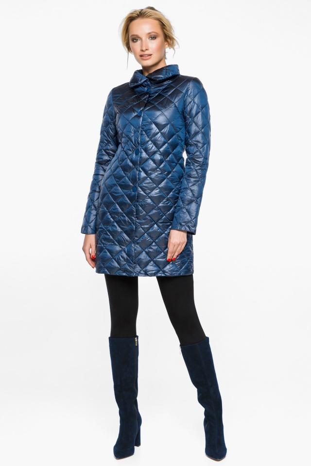 """Стеганая куртка женская осенне-весенняя цвет темная лазурь модель 20856 Braggart """"Angel's Fluff"""" фото 2"""