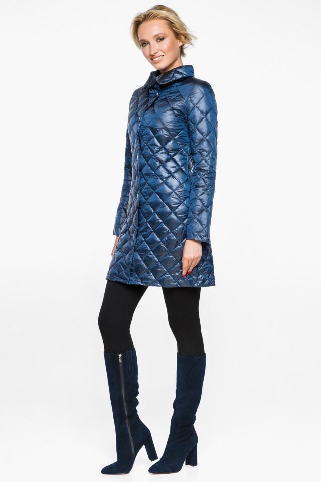 """Стеганая куртка женская осенне-весенняя цвет темная лазурь модель 20856 Braggart """"Angel's Fluff"""" фото 4"""