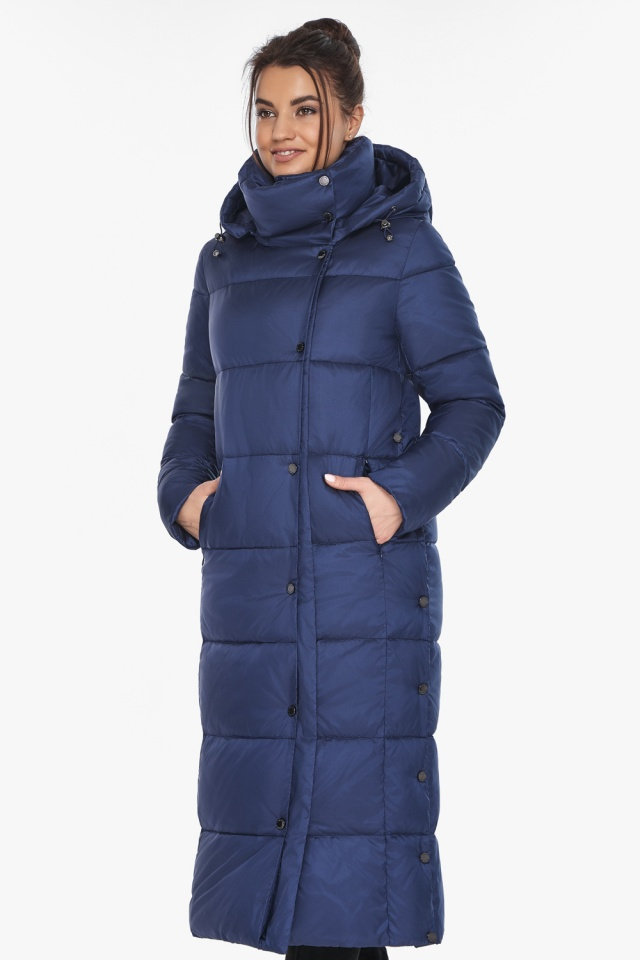 """Куртка с высоким воротником женская цвет синий бархат модель 41830 Braggart """"Angel's Fluff"""" фото 3"""