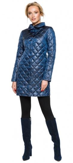"""Стеганая куртка женская осенне-весенняя цвет темная лазурь модель 20856 Braggart """"Angel's Fluff"""" фото 1"""