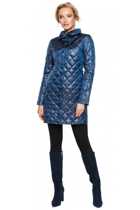 """Стьобана куртка жіноча осінньо-весняна колір темна блакить модель 20856 Braggart """"Angel's Fluff"""" фото 1"""