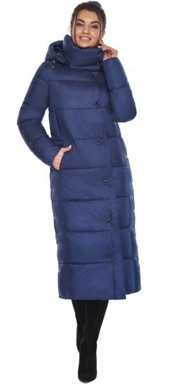 """Куртка с высоким воротником женская цвет синий бархат модель 41830 Braggart """"Angel's Fluff"""" фото 1"""