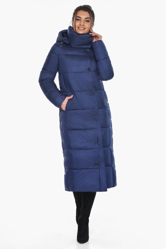 """Куртка с высоким воротником женская цвет синий бархат модель 41830 Braggart """"Angel's Fluff"""" фото 2"""
