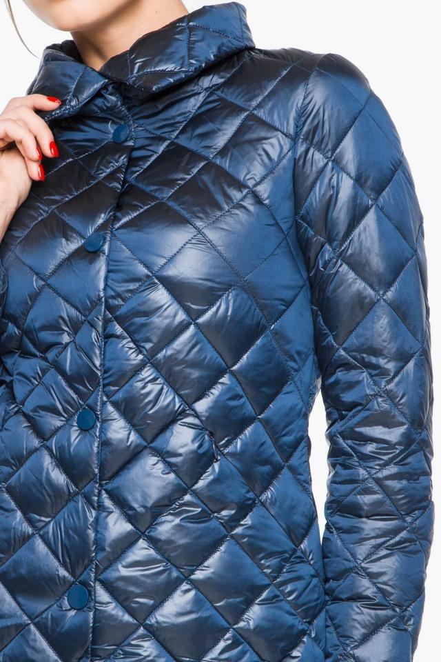 """Стеганая куртка женская осенне-весенняя цвет темная лазурь модель 20856 Braggart """"Angel's Fluff"""" фото 7"""
