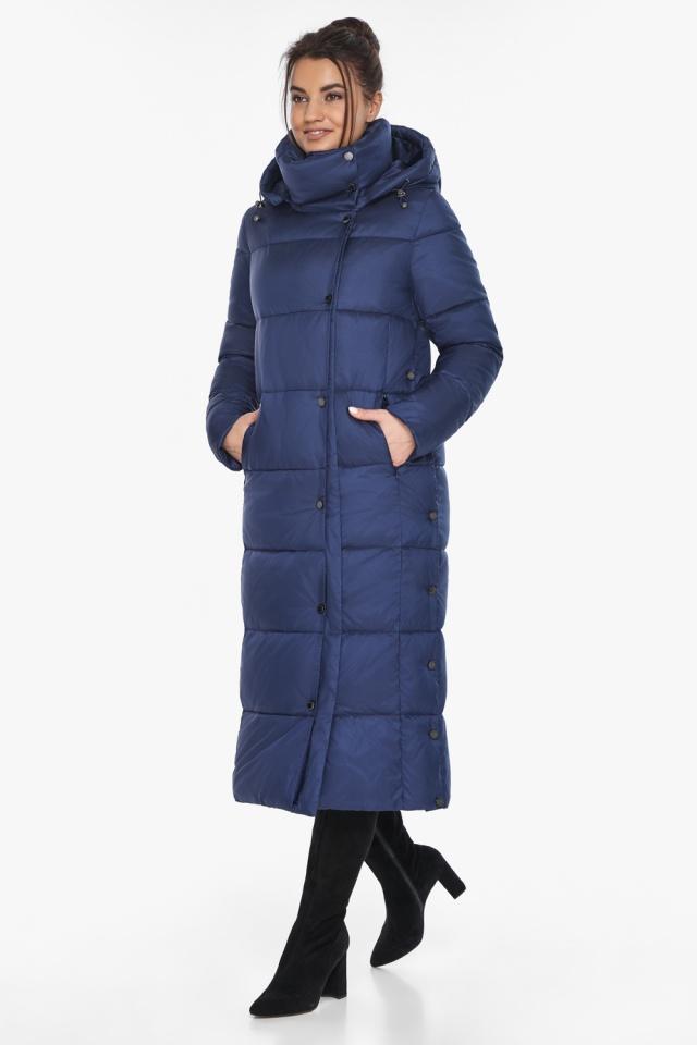 """Куртка с высоким воротником женская цвет синий бархат модель 41830 Braggart """"Angel's Fluff"""" фото 4"""