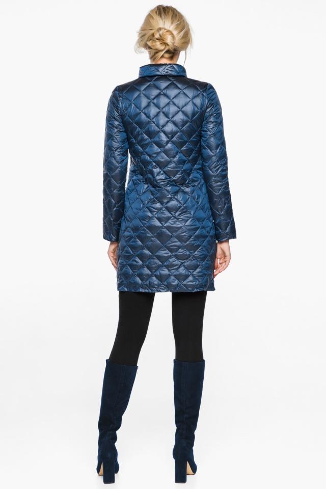 """Стеганая куртка женская осенне-весенняя цвет темная лазурь модель 20856 Braggart """"Angel's Fluff"""" фото 6"""