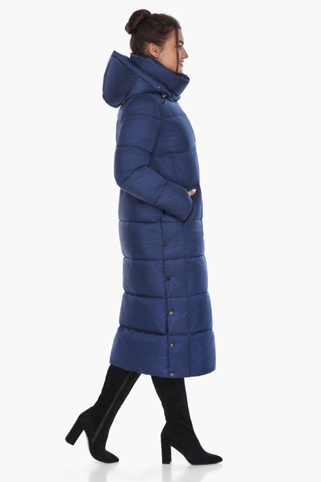 """Куртка с высоким воротником женская цвет синий бархат модель 41830 Braggart """"Angel's Fluff"""" фото 5"""