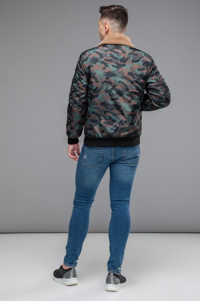 "Бомбер с манжетами осенне-весенний мужской цвет хаки модель 38666 Braggart ""Youth"" фото 5"