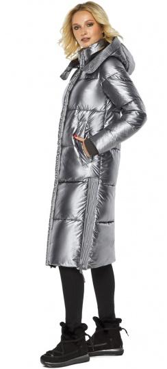 """Зимняя куртка женская цвет серебро модель 42650 Braggart """"Angel's Fluff"""" фото 1"""