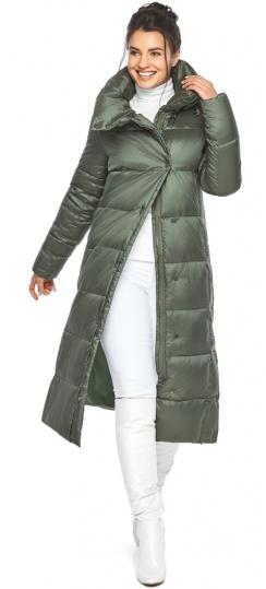 """Оливковая куртка женская трендовая модель 41830 Braggart """"Angel's Fluff"""" фото 1"""