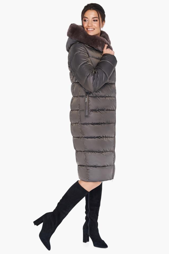 """Куртка цвета капучино женская комфортная модель 31049 Braggart """"Angel's Fluff"""" фото 4"""