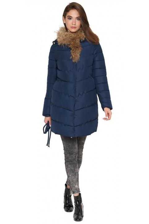 Куртка синяя женская зимняя качественного пошива модель 9087 Tiger Force фото 1