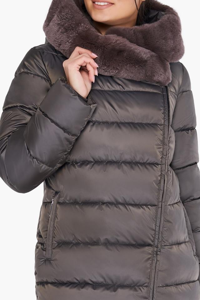 """Куртка цвета капучино женская комфортная модель 31049 Braggart """"Angel's Fluff"""" фото 7"""