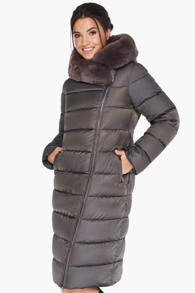 """Куртка цвета капучино женская комфортная модель 31049 Braggart """"Angel's Fluff"""" фото 3"""