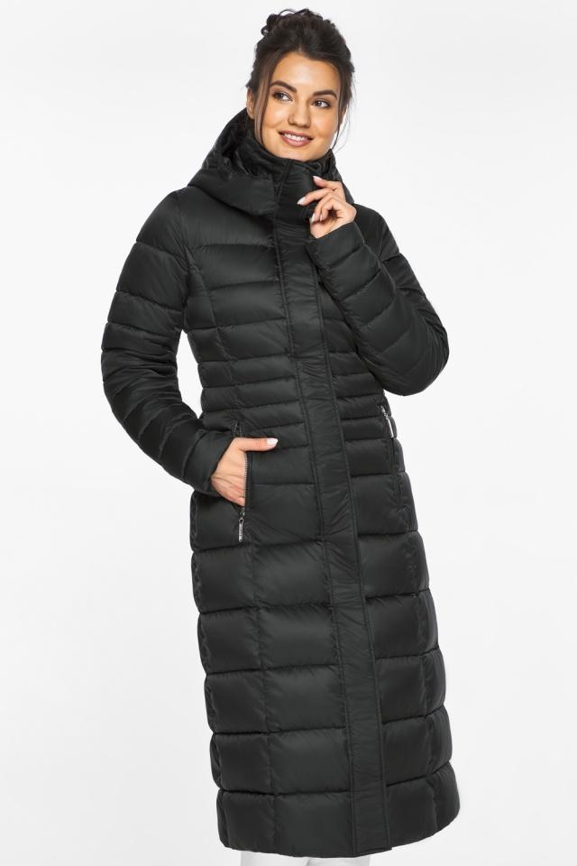 """Куртка зимняя с карманами женская цвет черный модель 43575 Braggart """"Angel's Fluff"""" фото 5"""