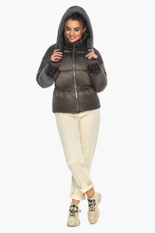 """Капучиновая куртка женская фирменная модель 41975 Braggart """"Angel's Fluff"""" фото 2"""