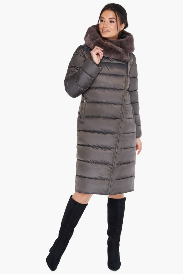 """Куртка цвета капучино женская комфортная модель 31049 Braggart """"Angel's Fluff"""" фото 2"""