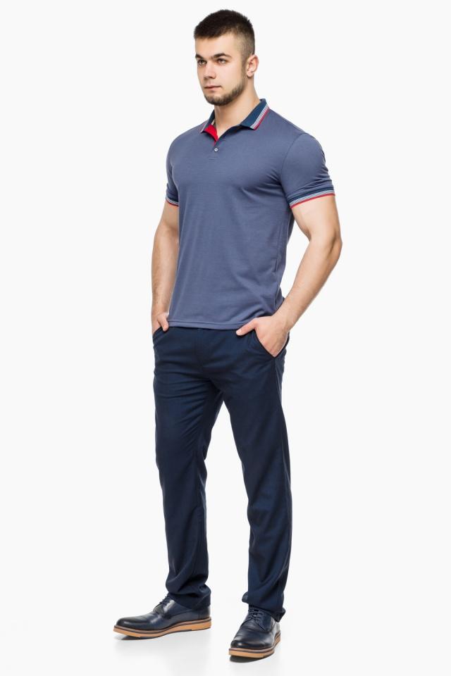 Футболка поло мужская качественная цвет джинс модель 6584 Braggart фото 2