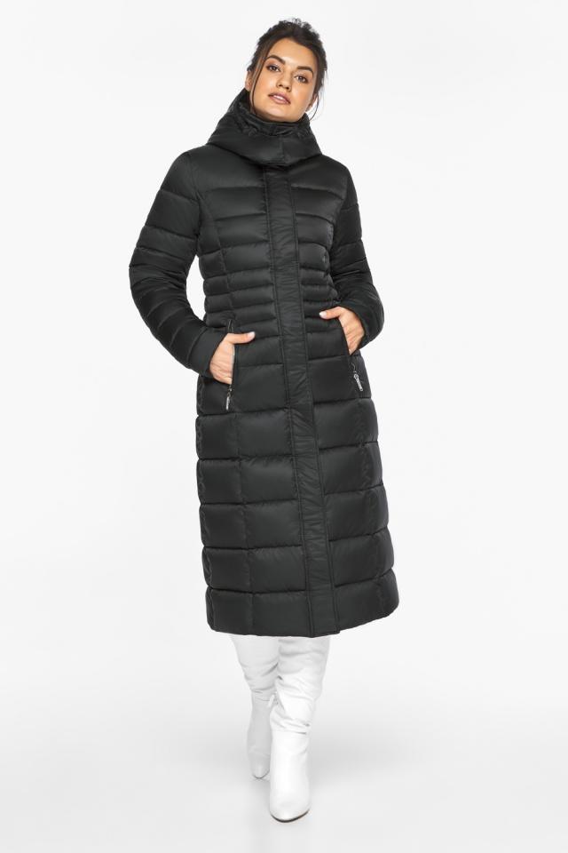 """Куртка зимняя с карманами женская цвет черный модель 43575 Braggart """"Angel's Fluff"""" фото 2"""