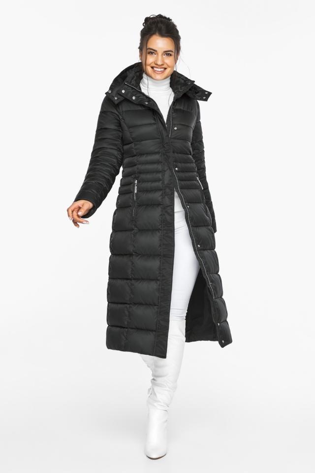 """Куртка зимняя с карманами женская цвет черный модель 43575 Braggart """"Angel's Fluff"""" фото 3"""
