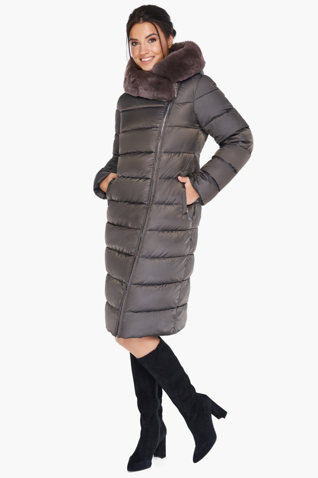 """Куртка цвета капучино женская комфортная модель 31049 Braggart """"Angel's Fluff"""" фото 5"""
