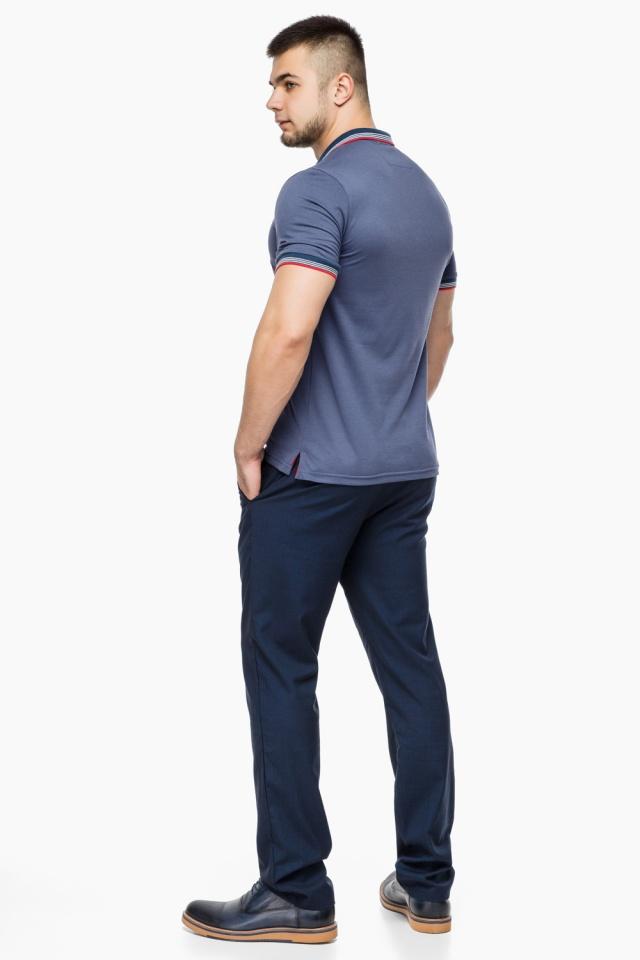 Футболка поло мужская качественная цвет джинс модель 6584 Braggart фото 5