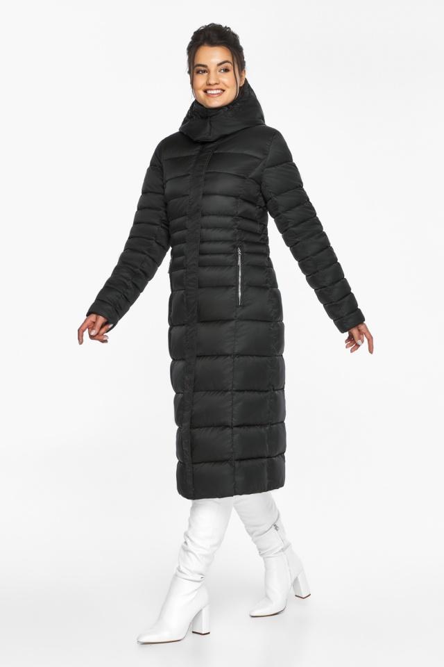 """Куртка зимняя с карманами женская цвет черный модель 43575 Braggart """"Angel's Fluff"""" фото 4"""