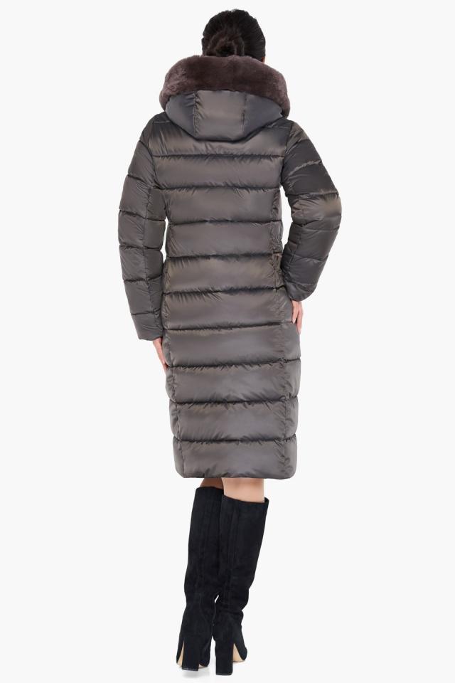 """Куртка цвета капучино женская комфортная модель 31049 Braggart """"Angel's Fluff"""" фото 6"""