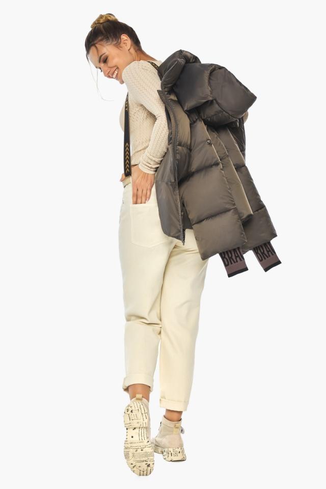 """Капучиновая куртка женская фирменная модель 41975 Braggart """"Angel's Fluff"""" фото 4"""