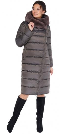 """Куртка цвета капучино женская комфортная модель 31049 Braggart """"Angel's Fluff"""" фото 1"""