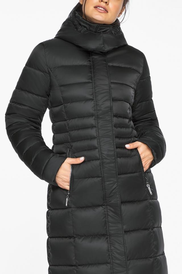 """Куртка зимняя с карманами женская цвет черный модель 43575 Braggart """"Angel's Fluff"""" фото 7"""