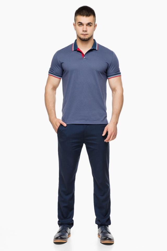 Футболка поло мужская качественная цвет джинс модель 6584 Braggart фото 4