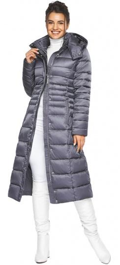 """Женская длинная куртка зимняя цвет жемчужно-серый модель 43575 Braggart """"Angel's Fluff"""" фото 1"""