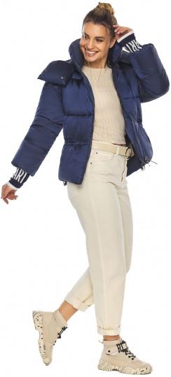"""Куртка комфортная женская цвет синий бархат модель 41975 Braggart """"Angel's Fluff"""" фото 1"""