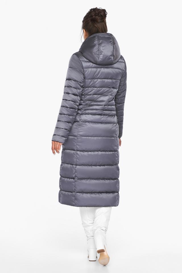 """Женская длинная куртка зимняя цвет жемчужно-серый модель 43575 Braggart """"Angel's Fluff"""" фото 6"""