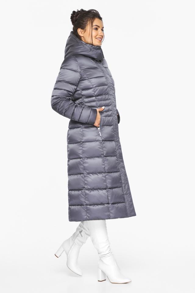 """Женская длинная куртка зимняя цвет жемчужно-серый модель 43575 Braggart """"Angel's Fluff"""" фото 5"""