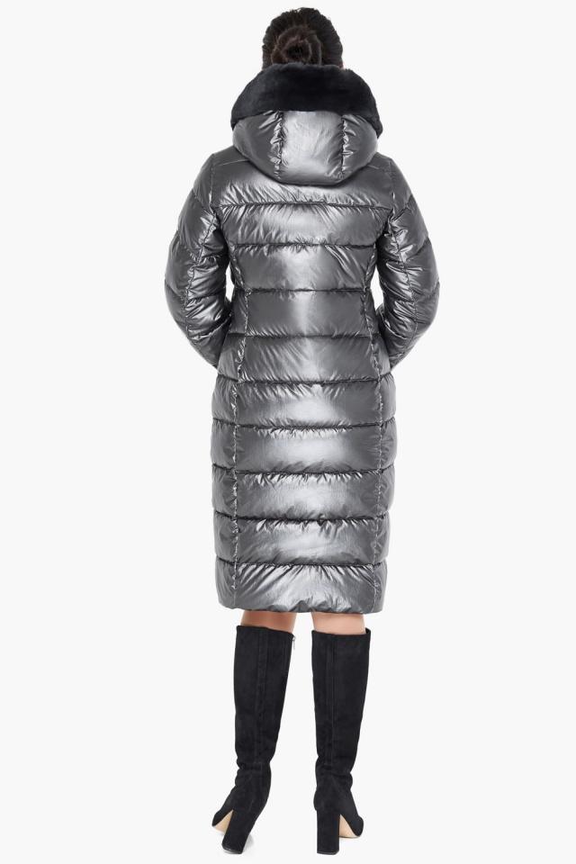 """Куртка стильная женская цвет тёмное серебро модель 31049 Braggart """"Angel's Fluff"""" фото 6"""