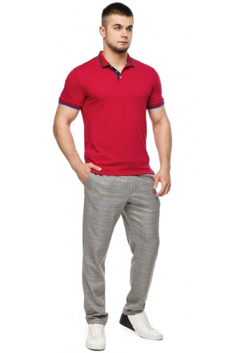 Мужская красная футболка поло модель 6584 Braggart фото 1