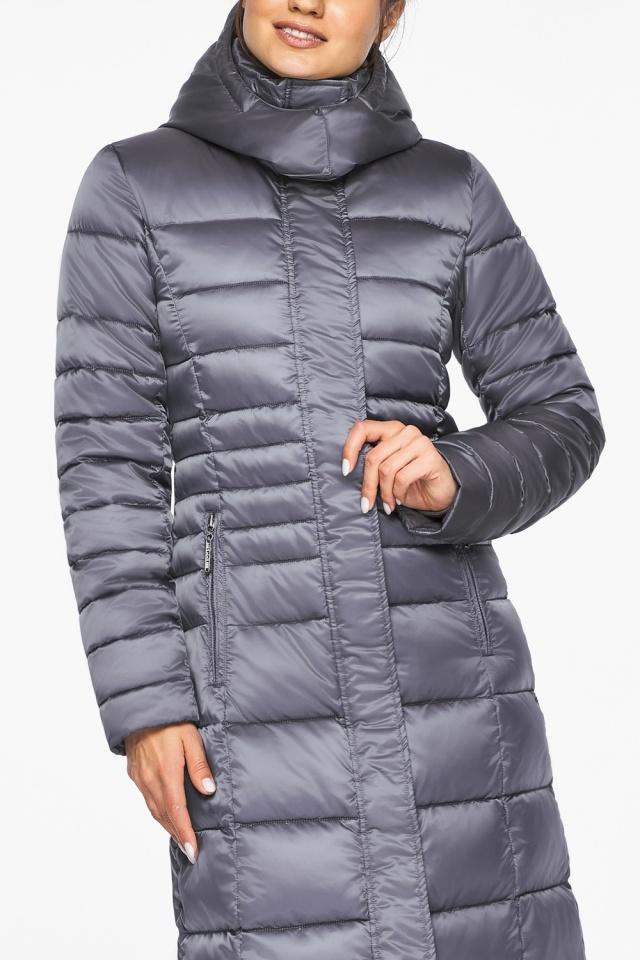 """Женская длинная куртка зимняя цвет жемчужно-серый модель 43575 Braggart """"Angel's Fluff"""" фото 7"""