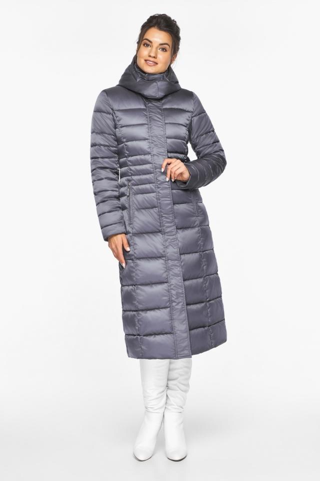 """Женская длинная куртка зимняя цвет жемчужно-серый модель 43575 Braggart """"Angel's Fluff"""" фото 3"""