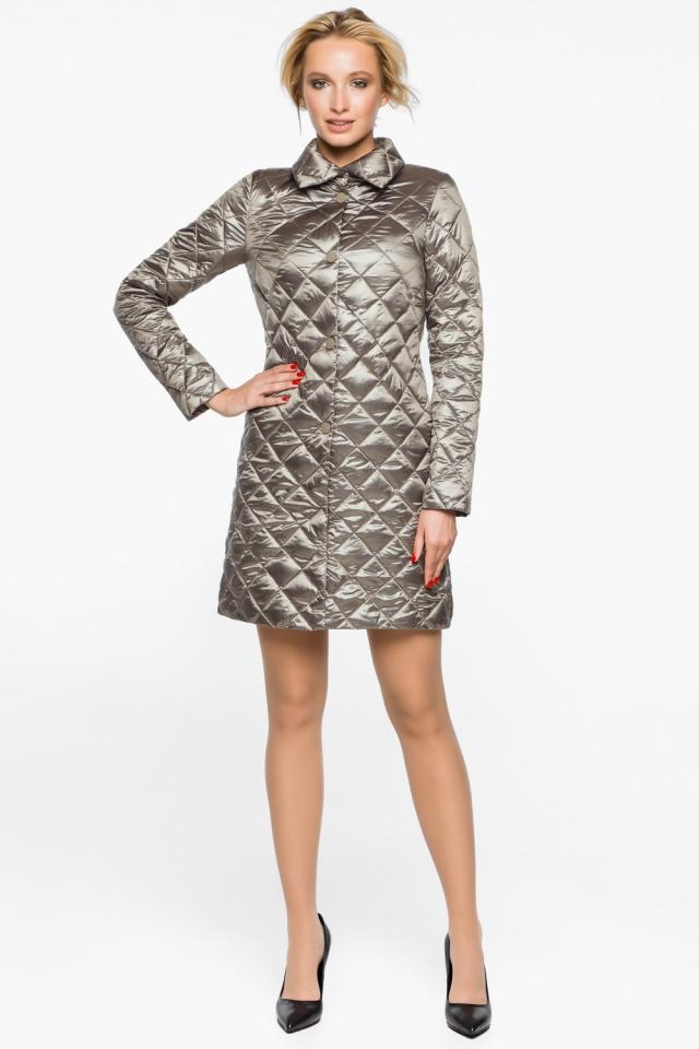 """Куртка практичная женская осенне-весенняя цвет кварцевый модель 20856 Braggart """"Angel's Fluff"""" фото 2"""