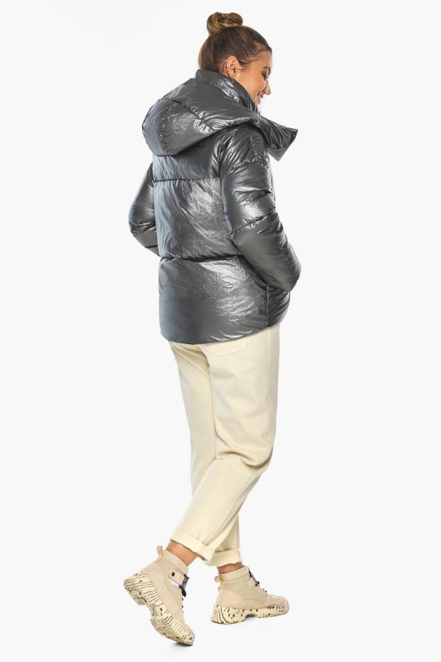 """Женская куртка трендовая цвет тёмное серебро модель 41975 Braggart """"Angel's Fluff"""" фото 8"""